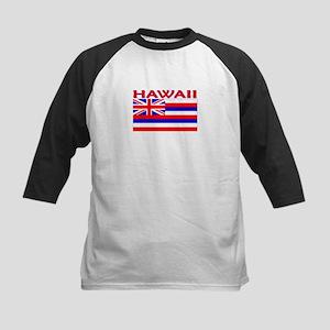 Hawaii Flag (Light) Kids Baseball Jersey