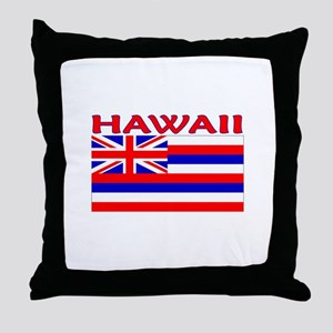 Hawaii Flag (Light) Throw Pillow