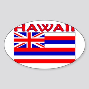 Hawaii Flag (Light) Oval Sticker