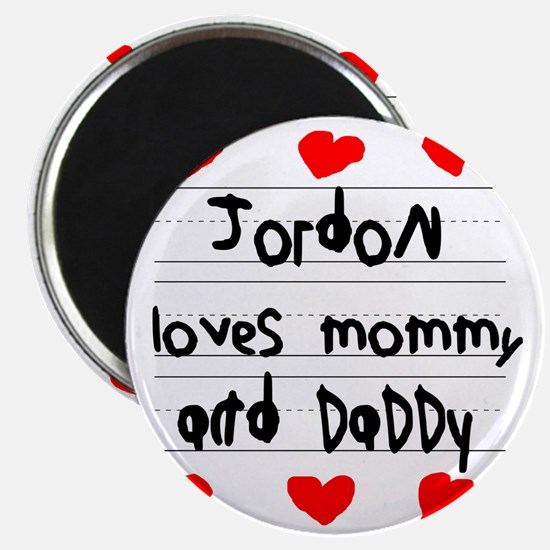 Jordon Loves Mommy and Daddy Magnet