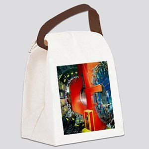 CDF particle detector, Fermilab Canvas Lunch Bag