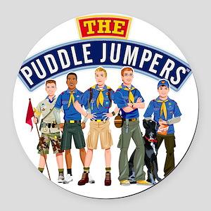 01Puddle Jumper Shirt Round Car Magnet