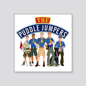 "01Puddle Jumper Shirt Square Sticker 3"" x 3"""