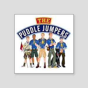 "01Puddle Jumper Shirt Square Sticker 3"" x 3"""