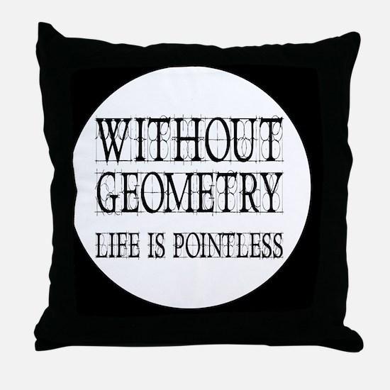 geometrybutton Throw Pillow