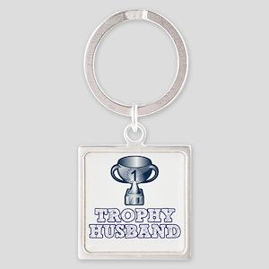 Trophy Husband Square Keychain