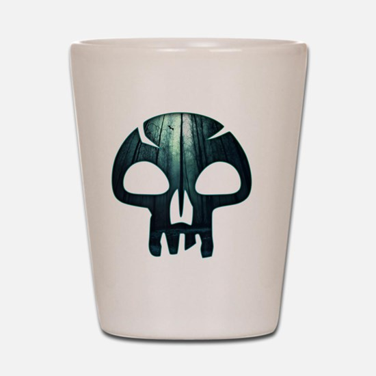 Magic the Gathering Swamp Skull Shot Glass