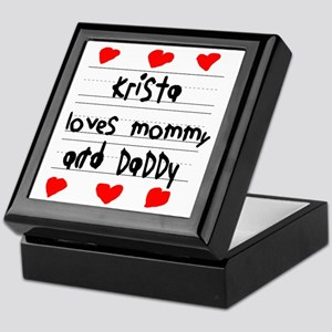 Krista Loves Mommy and Daddy Keepsake Box