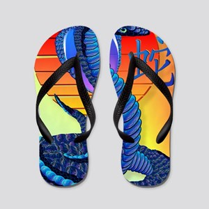 Year Of The Snake and Sun Flip Flops