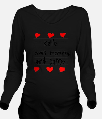 Kellie Loves Mommy a Long Sleeve Maternity T-Shirt