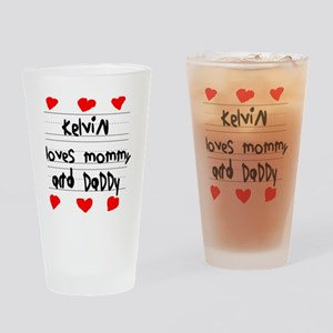 Kelvin Loves Mommy and Daddy Drinking Glass