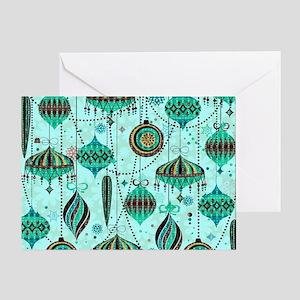 Green Tint Ornaments Greeting Card