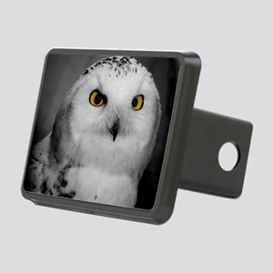 Snowy Owl Oscar Rectangular Hitch Cover