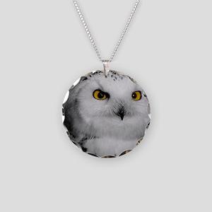 Snowy Owl Oscar Necklace Circle Charm