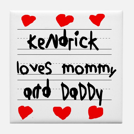 Kendrick Loves Mommy and Daddy Tile Coaster