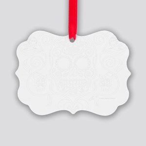 Day of the Dead Sugar Skull Picture Ornament