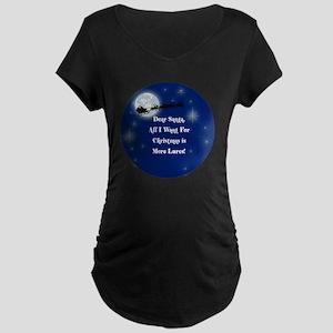 santa Maternity Dark T-Shirt