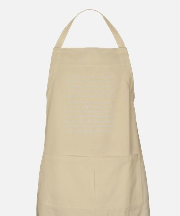 Aleph Hebrew letter and Psalm 119 verses Apron