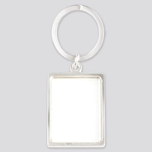 Aleph Hebrew letter and Psalm 11 Portrait Keychain