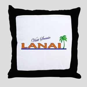 Visit Scenic Lanai, Hawaii Throw Pillow