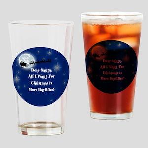 santa Drinking Glass