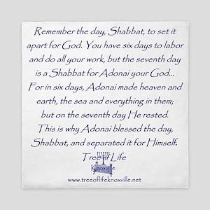 Tree of Life Shabbat commandment Queen Duvet