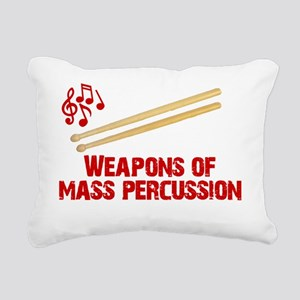 Weapons of Mass Percussi Rectangular Canvas Pillow