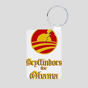 Gryffindors for Obama Aluminum Photo Keychain
