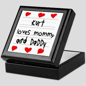 Kurt Loves Mommy and Daddy Keepsake Box