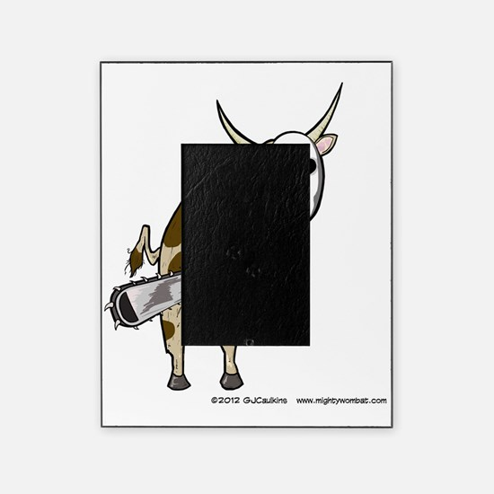 Cow with Chainsaw Picture Frame