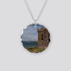 Dingle Tower Necklace Circle Charm