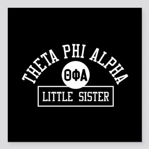"Theta Phi Alpha Little S Square Car Magnet 3"" x 3"""