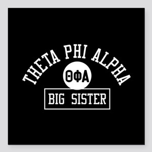 "Theta Phi Alpha Big Sist Square Car Magnet 3"" x 3"""