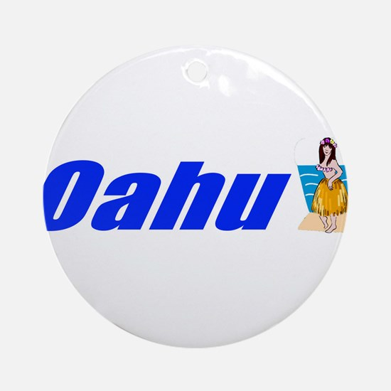 Oahu, Hawaii Ornament (Round)