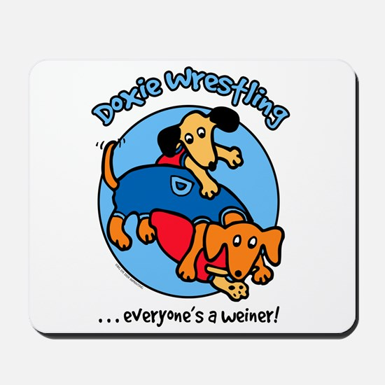 Doxie Wrestling Mousepad