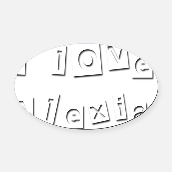 I Love Alexia Oval Car Magnet