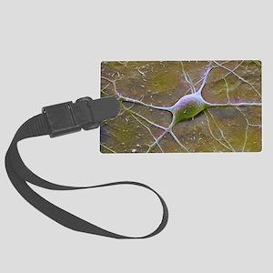 Purkinje nerve cell, SEM Large Luggage Tag