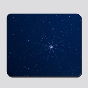 Optical photo of the star Sirius using s Mousepad