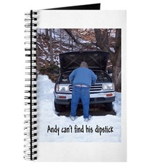 Andy can't find his dipstick Journal