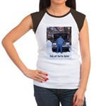 Andy can't find his dipstick Women's Cap Sleeve T-