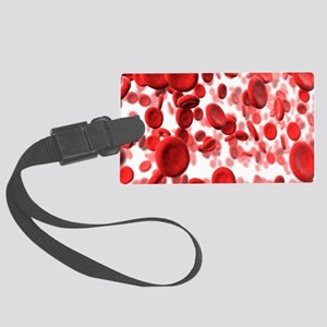 Red blood cells Large Luggage Tag