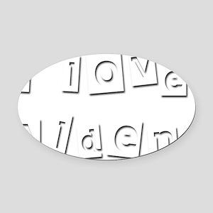 I Love Alden Oval Car Magnet