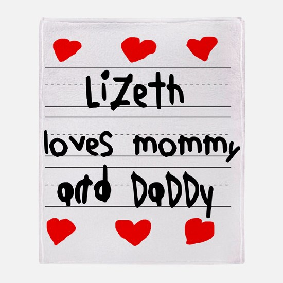 Lizeth Loves Mommy and Daddy Throw Blanket