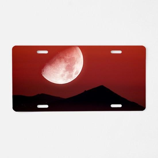 Setting moon Aluminum License Plate