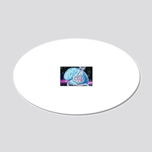 Nerve synapse 20x12 Oval Wall Decal