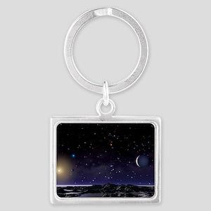 Sigma Draconis planet Landscape Keychain