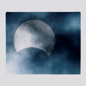 Partial solar eclipse, Germany, 29/0 Throw Blanket