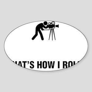 Cameraman-ABG1 Sticker (Oval)