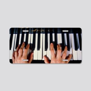 Playing the piano Aluminum License Plate