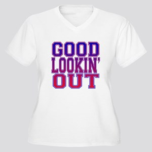 Good Lookin' Out Women's Plus Size V-Neck T-Shirt